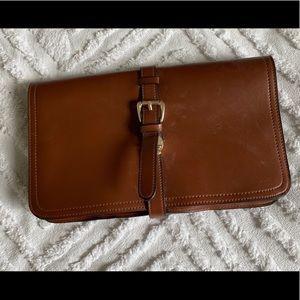 Brown cross body/clutch purse